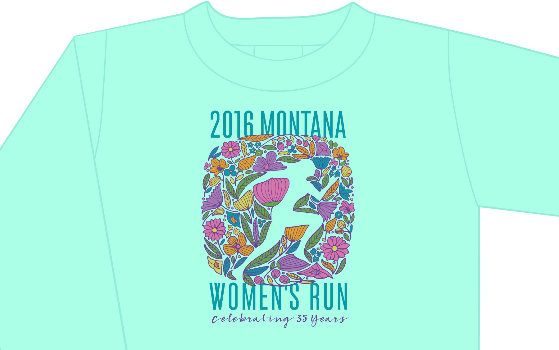 Women's Run T-Shirt design for 2016