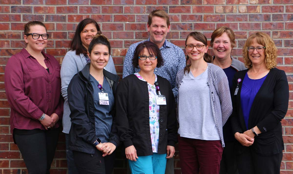 Physicians and staff at Acorn Pediatrics in Bozeman