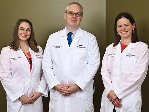 Inpatient Pediatric Providers (from left to right) Katie Skelton, FNP; Scott Stephens, DO; Erin Preloger, MD