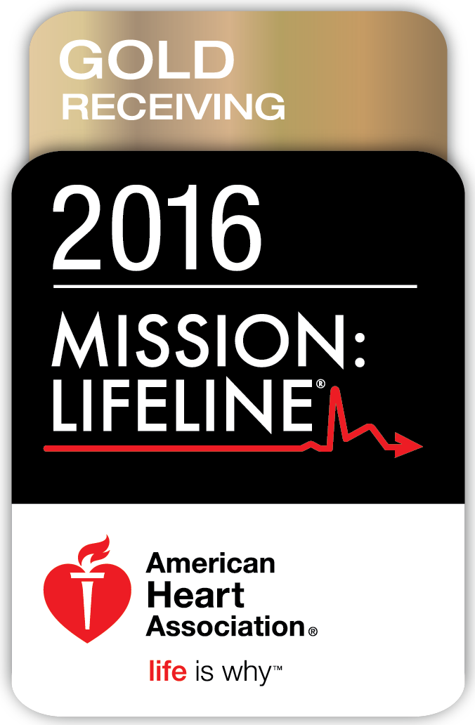 American Heart Association Mission Lifeline Silver Plus Award for Receiving