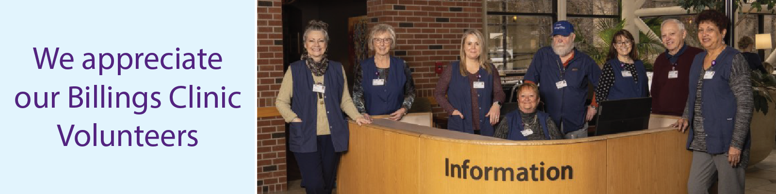 Billings Clinic Volunteers