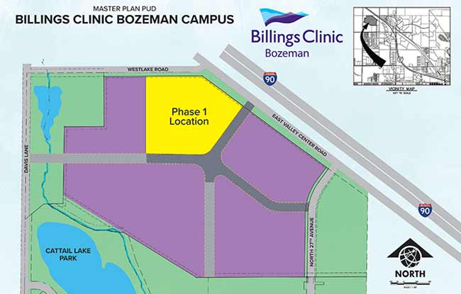 Billings Clinic Bozeman Campus Map Site Planning and Infrastructure