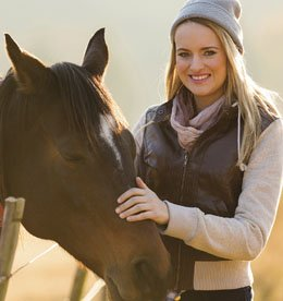 Woman in Equine Therapy