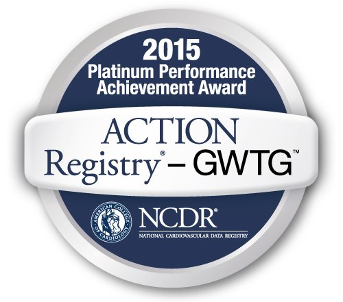 Get with the Guidelines ACTION Registry Platinum Performance Achievement Award for a Higher Standard of Care for Heart Attack Patients