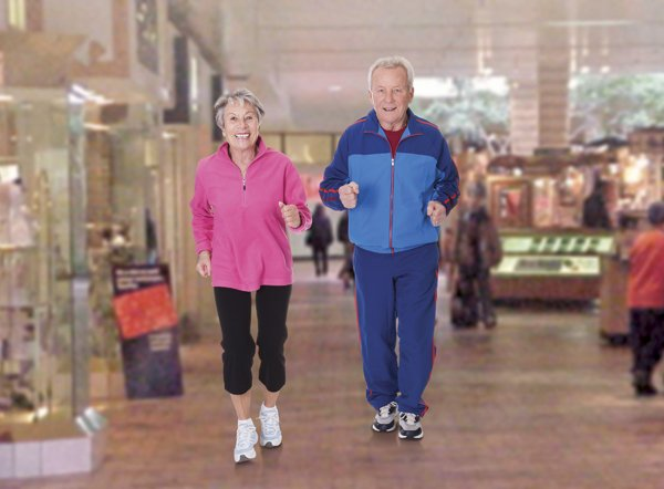 Mall Walkers on the Wellness Trail