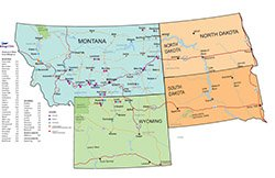 Billings Clinic Outreach Map