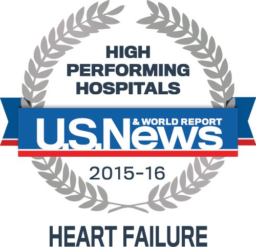US News High Perfoming Hospital in Heart Failure care